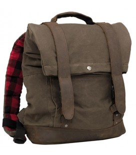Back Pack, Voyager Luggage, Made Of Wet Waxed UV-Treated Cotton, Leather Paneling