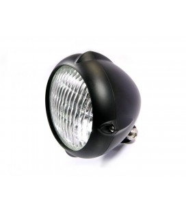 "5.5"" Vintage Headlight Bottom Mount Black"