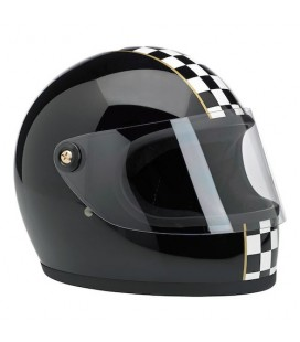 BILTWELL GRINGO S LE Checker, Gloss Black