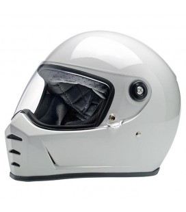 BILTWELL Lane Splitter Helmet, ECE Approved, Gloss White