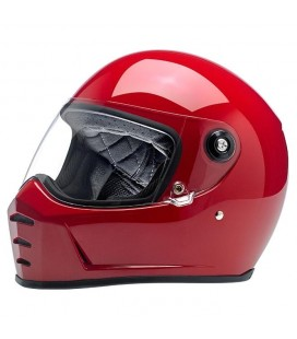 BILTWELL Lane Splitter Helmet, ECE Approved, Gloss Blood Red