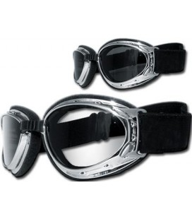 Helly Hurricane 2 Goggle, chrome with smoke lense
