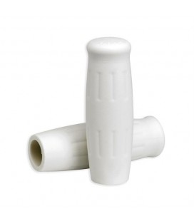 22mm Lowbrow Customs Classic Grips White 7/8""