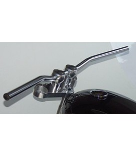 "LSL Handlebars Street Bar Chrome 1"" Steel Dimpled"