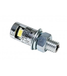 Luce targa led Pin cromo