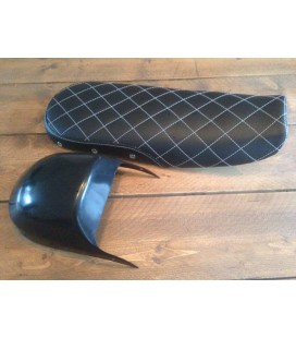 CX500 cafe racer seat Black/Diamond