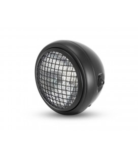 "6"" MESH HEADLIGHT SCRAMBLER BLACK"