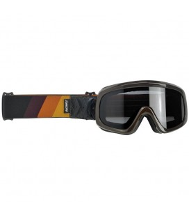 Tri-Stripe Overland Goggle 2.0, Gloss Brown, Gold-Rust-Brown