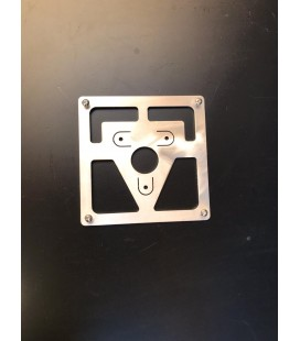 License plate holder fender mounting