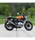 Tapered Cone Slip-On Mufflers for Royal Enfield Continental GT650 / Interceptor 650